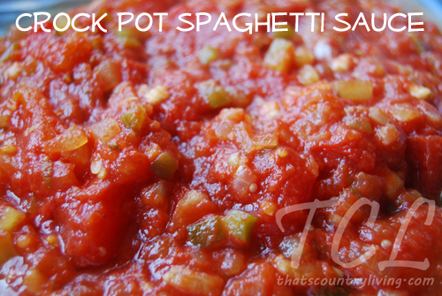 Slow Cooker Recipe: Crockpot Spaghetti Sauce |