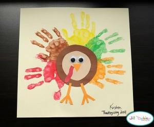hand turkey craft 1