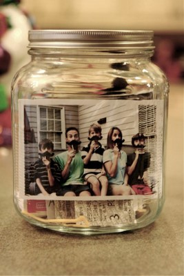 family time capsule in a jar
