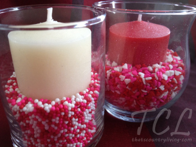 Frugal Candy Candle Holder Valentines Centerpiece Ideas