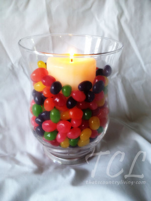 Easter Jellybean Candle Edit