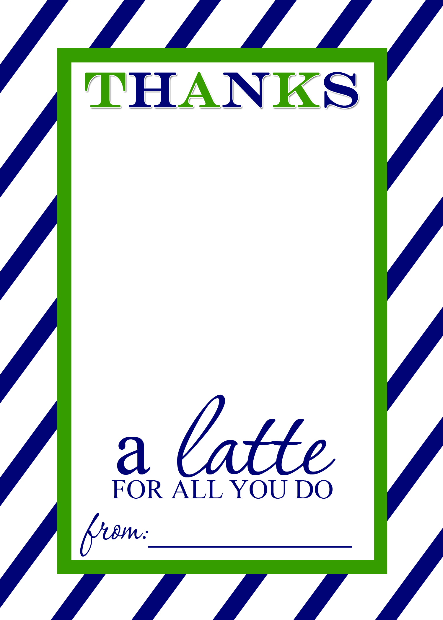 graphic about Thanks a Latte Printable titled Thats Place Residing