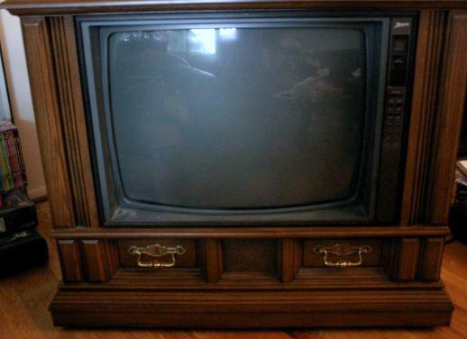 zenith wooden television