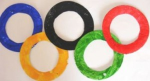 olympics rings craft