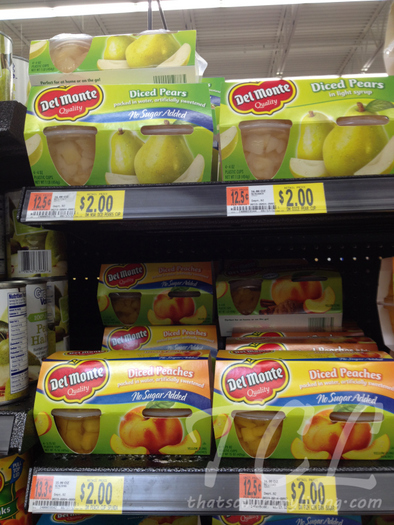 i fruit aisle in walmart 4 del monte