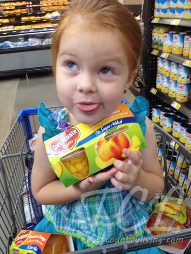 l lily with del monte fruit cups 2