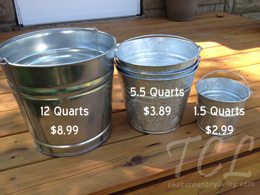 steel galvanized buckets wtih sizes and prices