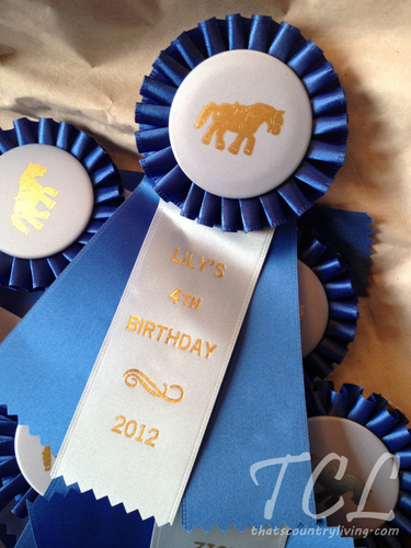 Ideas For A Pony Party Blue Ribbon Cookie Jar Favors