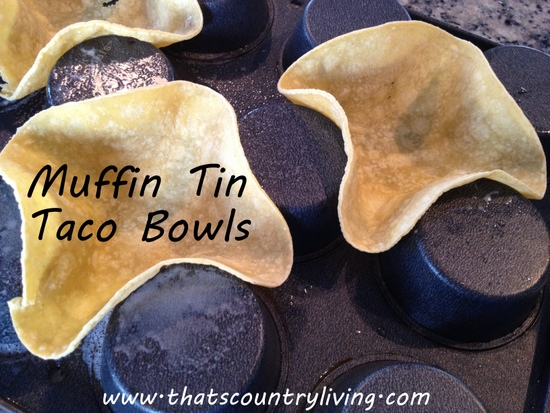 muffin tin taco bowl