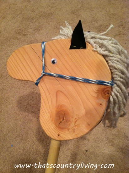 stick horse finished