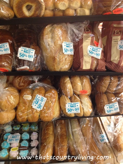clearance baked goods