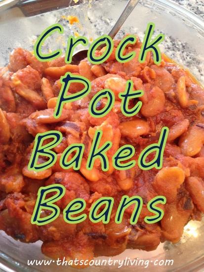 crock pot baked beans title