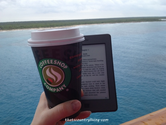 mocha and kindle on cruise ship