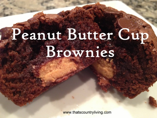 Peanut Butter Cup Brownies title