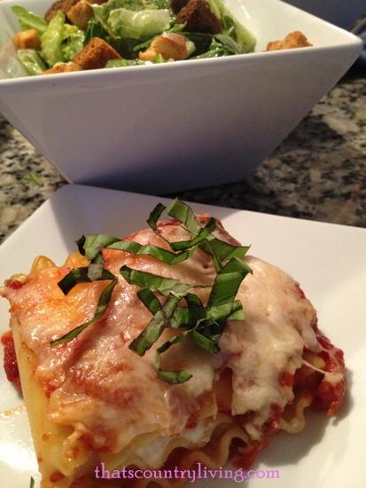 caprese lasagna roll ups plated