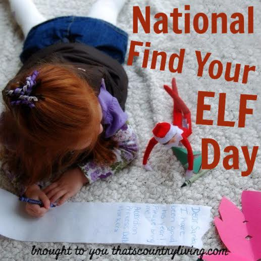 national find your elf day