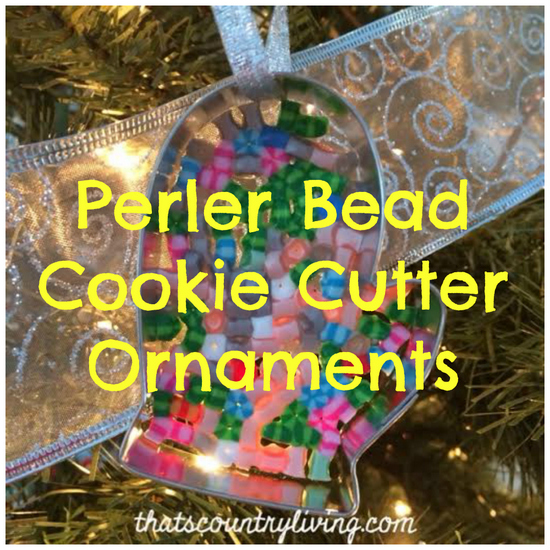 Perler Bead Ornament Title