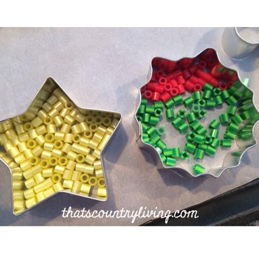 perler bead cookie cutter ornament 5