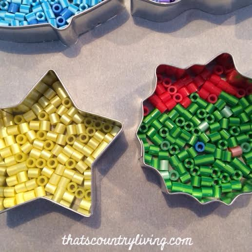 perler bead cookie cutter ornament 8