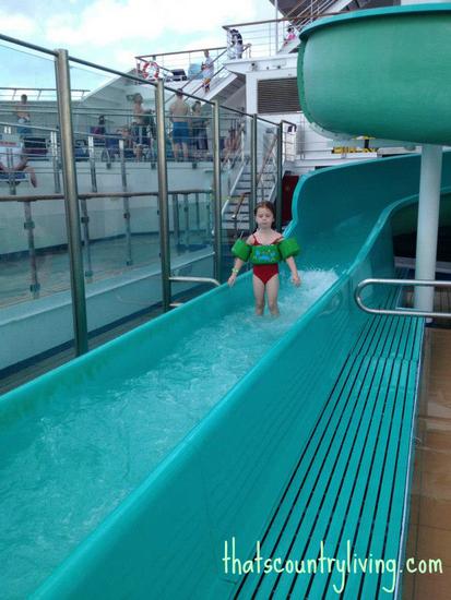 carnival glory cruise water slide